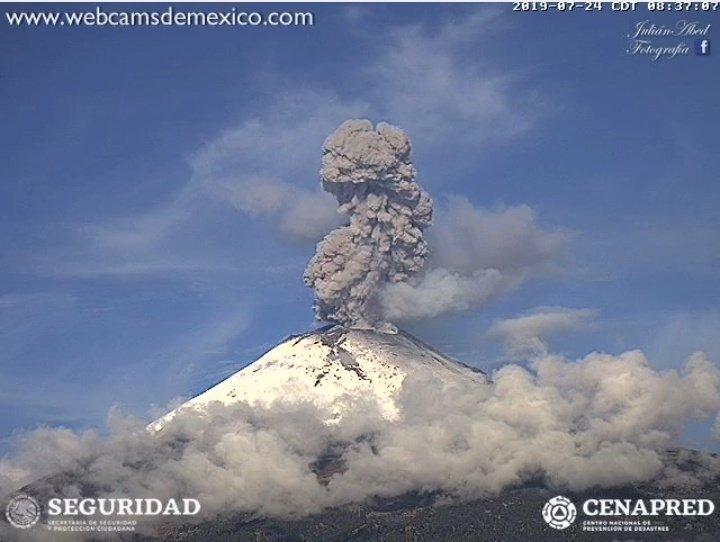 Registra Popocatépetl explosión