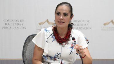 Ale Gutiérrez, presidenta de la Comisión de Hacienda y Fiscalización del Congreso local.