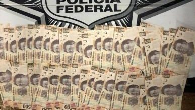Durante patrullajes de inspección y vigilancia, elementos de la Policía Federal detuvieron a un hombre con más de 20 mil pesos en billetes falsos.