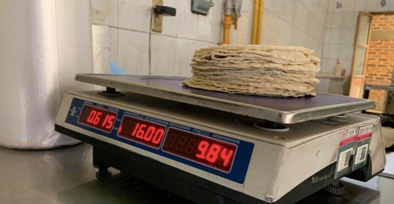 Se mantiene sin cambio precio de tortilllas.