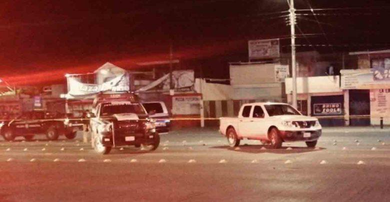 Imagen del homicidio de una persona en la colonia San Sebastián en León, Guanajuato la noche del 22 de mayo de 2020
