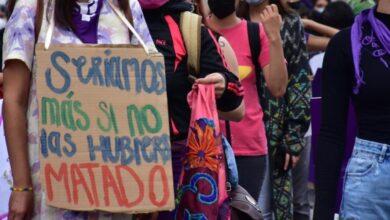 Photo of Feministas protestan de forma pacífica en el Arco de la Calzada