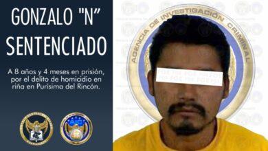 Photo of Sentencian a ocho años de prisión a 'El Ratón' por homicidio en Purísima del Rincón