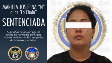 Photo of Sentencian a 40 años de cárcel a 'La Chola' por organizar bloqueos
