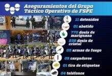 Photo of Logran FSPE detención de 11 personas y aseguran más de  mil dosis de droga