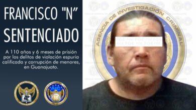 Photo of Sentencian a hombre a más de un siglo de prisión por violación espuria y corrupción de menores